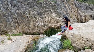 Yeşil cennet Ballıkayalarda kamp