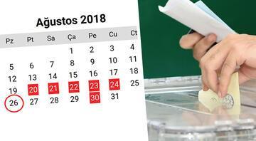 Seçim tarihinin şifresi: 9 günlük tatilin sonu