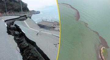 Orduyu sel vurdu, denizde fındık adası oluştu... İşte son durum