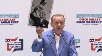 Cumhurbaşkanı Erdoğan: İnönünün elinde Türk bayrağı yok, ABD bayrağı var