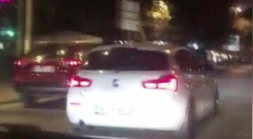Bağdat Caddesinde drift yapan sürücüye büyük şok
