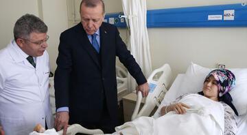 Erdoğan, bina çökmesi sonucu yaralananları ziyaret etti