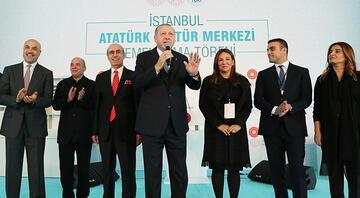 Yeni AKMnin temeli atıldı... Cumhurbaşkanı Erdoğan tarihi törende konuştu