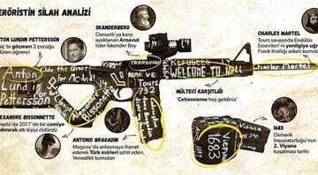 Yeni Zelandada camide katliam yapan teröristin kullandığı silahın şifreleri