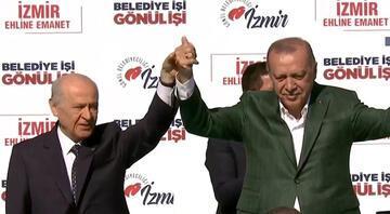 Cumhur İttifakı'nın ilk ortak mitingi İzmir'de yapıldı