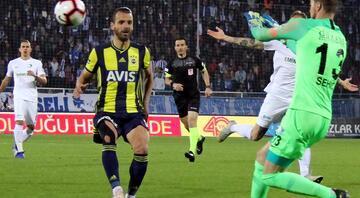 Erzurumspor - Fenerbahçe maçından kareler