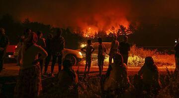 İzmirdeki yangın 3. gününde Gözyaşlarıyla izlediler