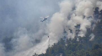 İzmirdeki orman yangınının genişlemesi durduruldu