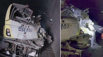 Bilecikte kılavuz tren tünelde raydan çıktı: 2 ölü