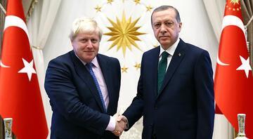 Erdoğan Birleşik Krallık Başbakanı Johnson ile görüştü