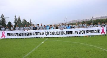 Trabzonspordan meme kanserine karşı farkındalık