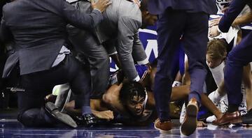 NBAde ortalık karıştı Birbirlerine girdiler...