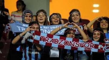 Tribünde en çok kadın taraftar Trabzonspor'da