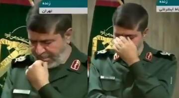 Son dakika.. Devrim Muhafızları Ordu Sözcüsü canlı yayında hıçkıra hıçkıra ağladı