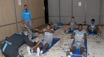 Trabzonspor salonda kuvvet çalıştı