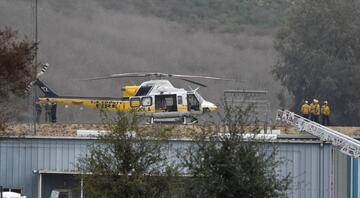 Kobe Bryantın hayatını kaybettiği helikopter kazasından ilk görüntüler