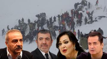 Vandaki çığ felaketi Türkiyeyi yasa boğdu... Ünlüler art arda baş sağlığı mesajları yayınladı