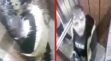 İzmirde iğrenç görüntü Boş damacana şişesine idrarını yaptı