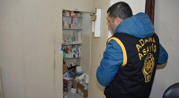 Adanada gizli bölmeli kaçak hastaneye baskın Sahte doktorlar gözaltında