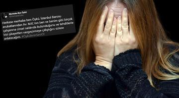 Stajyer avukat cinsel saldırıyı duyurdu, İstanbul Barosu harekete geçti