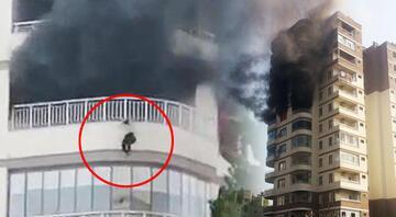 Mersinde feci olay Yangından korkan kadın 8. kattan aşağı düştü