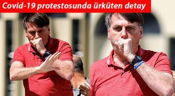 Brezilya Devlet Başkanı Bolsonarodan Covid-19 protestosu