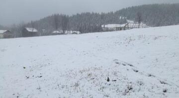 Ordunun yüksek kesimlerine kar yağdı