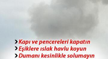 Kızılay Başkanı: Kapı ve pencereleri kapatın, dumanı solumayın