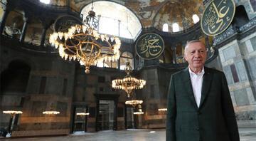 Cumhurbaşkanı Erdoğandan Ayasofya paylaşımı