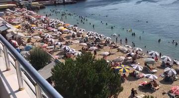 Tatilciler akın etti... Nüfus 10 kat arttı