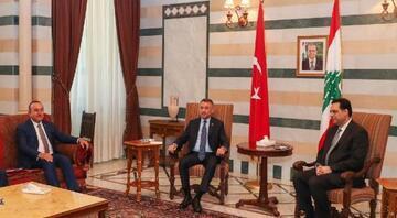Cumhurbaşkanı Yardımcısı Fuat Oktay, Lübnan Başbakanı Diyab ile görüştü