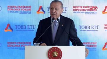 Cumhurbaşkanı Erdoğan, TOBB ETÜ Hukuk Fakültesi'nin mezuniyet töreninde konuştu