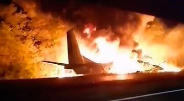 Ukraynada askeri uçak düştü: Çok sayıda ölü var