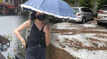 İstanbulda dolu yağışı Bünyamin Sürmeli uyardı: Tekrar gelecek
