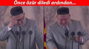 Son dakika haberi: Onu hiç böyle görmediniz... Kim Jong-unun gözyaşları gündeme damga vurdu