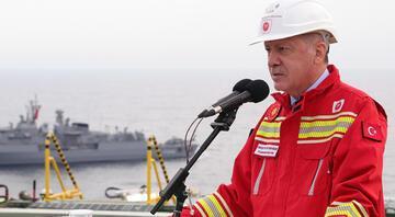 Cumhurbaşkanı Erdoğan, Fatih sondaj gemisinde müjdeyi açıkladı