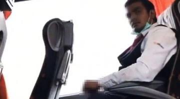 Otobüste iğrenç olay Sapığı böyle görüntüledi