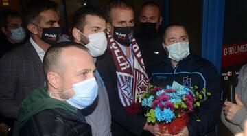 Abdullah Avcı'ya Trabzonda coşkulu karşılama