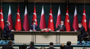 Katar Emiri Beştepe'de... Cumhurbaşkanı Erdoğan resmi törenle karşıladı