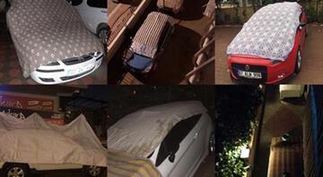 Antalyada turuncu alarm verildi Araçları naylon, kilim ve brandalarla örttüler