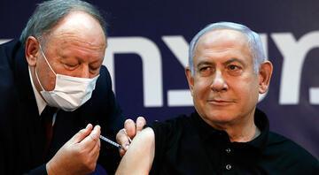 İsrailde ilk koronavirüs aşısı canlı yayında Netanyahuya yapıldı