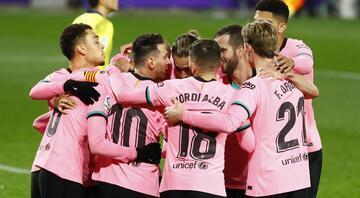 Barcelonada Lionel Messinin rekor gecesinden öne çıkan fotoğraflar