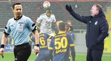 Ankaragücü-Beşiktaş maçına damga vuran diyalog Gol iptal edilince Sergen Yalçın ve VAR...