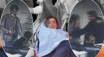 Genç hemşire bıçakla rehin alınmıştı... Görüntüler ortaya çıktı