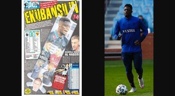 Trabzon yerel basınında Göztepe galibiyeti sevinci Ekubansilin...