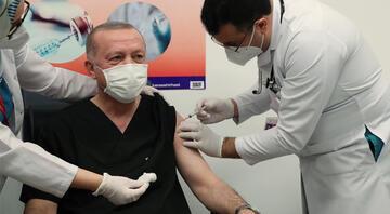 Erdoğan corona virüsü aşısı yaptırdı, Telegramdan paylaştı İşte ilk fotoğraf...