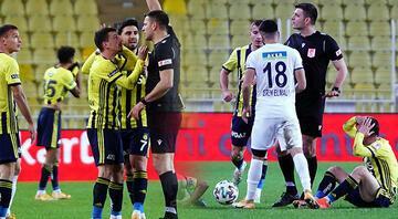Fenerbahçe-Kasımpaşa maçına damga vuran karar Kırmızı kart sonrası Mert Hakan Yandaş ve Aytaç Kara....