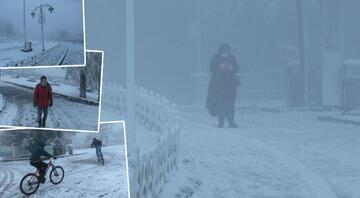 İstanbul'un yüksek kesimlerinde kar yağışı etkili oldu Hafta sonu kar yağacak mı Meteorolojiden yeni hava durumu raporu