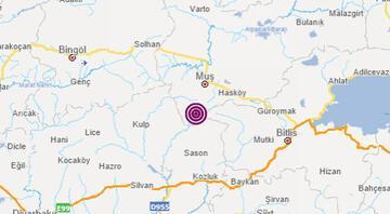 Son dakika: Muşta 3.7 büyüklüğünde deprem
