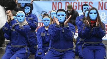 Çinin Uygurlara yönelik baskı politikaları Berlinde protesto edildi